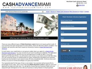 Miami Business Loans / Cash Advance